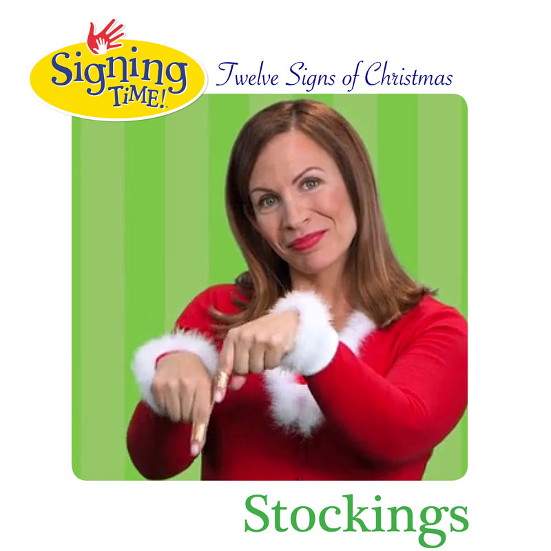 What's the ASL sign for Stockings?